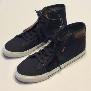 Levi's Red Tag Dark Wash Denim High Top Shoes